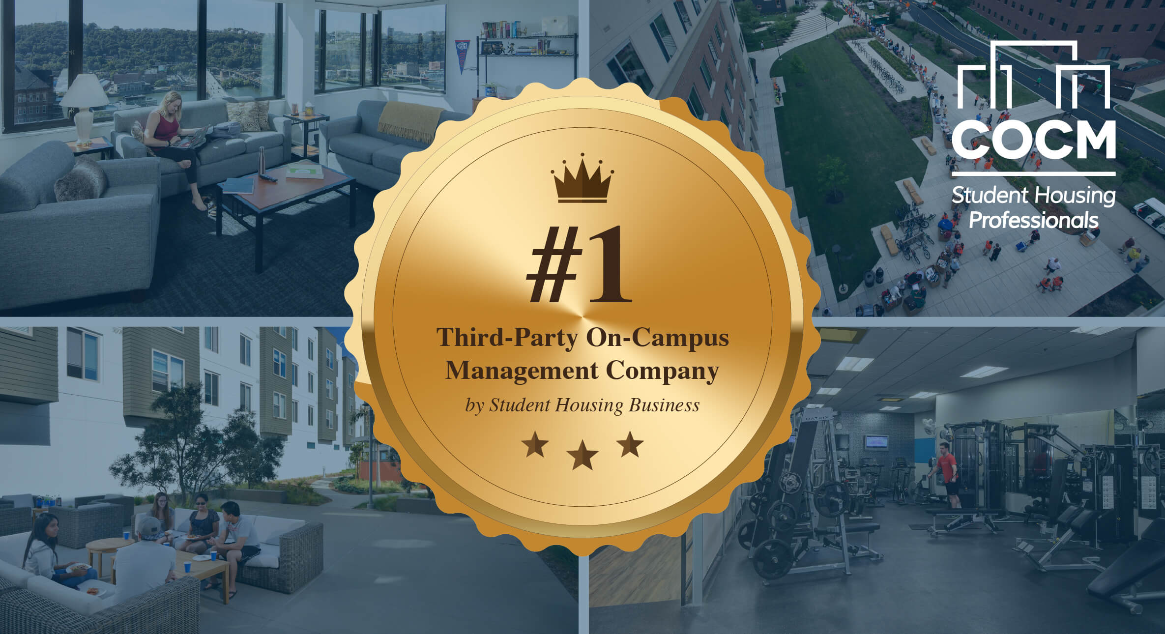 COCM Ranked #1 Third-Party On-Campus Management Company by Student Housing Business